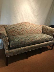 Exquisite Camelback Down Sofa