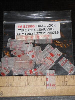 3m Sj3560 Clear Dual Lock Vhb Type 250 1 X 12 20 Pcs Reclosable Free Ship