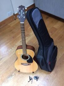 Acoustic guitar set, Takamine G series.