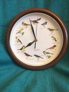 BIRD CLOCK WITH BIRD SONGS from around the world. Windsor Region Ontario image 1