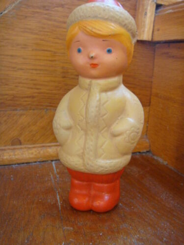 Russian Vintage  Doll, Old Rubber, Brand K3PИ, USSR, 60