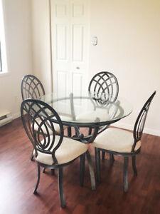 """Table salle à dîner 48"""" de diamêtre"""