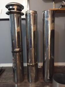 12 Pieces of Selkirk Ultra Temp Insulated Chimney