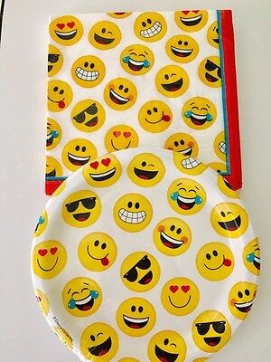 Emoji party paper plates and napkins, Emoji party supplies, 20 count each, USA