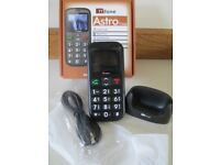 BOXED-COMPLETE-TT FONE-ASTRO TT450-EASY TO USE-BIG BUTTONS-CHARGING DOCK-CABLES ETC-LEAD-OSSETT.VGC