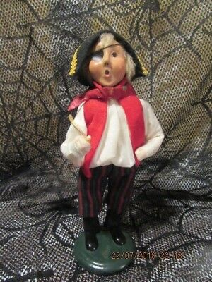 BYERS CHOICE 2001 HALLOWEEN PIRATE CHILD CAROLER WITH SWORD RED SCARF