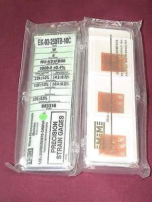 Vishay Micro Measurements Strain Gage Ek-03-250tb-10c 5 Pack Option W