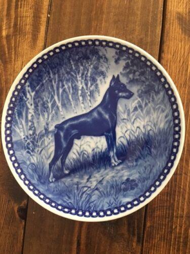 Miniature Pinscher Blue Porcelain Plate