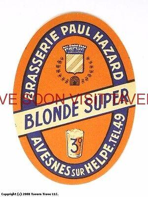 Scarce France Hazard Blonde Super Biere Tavern Trove French Beer (French Blonde Beer)