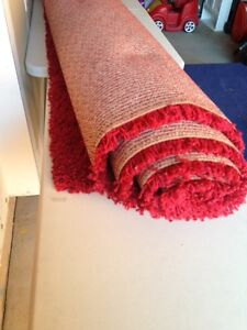 "Large red shag rug 96""x130"""