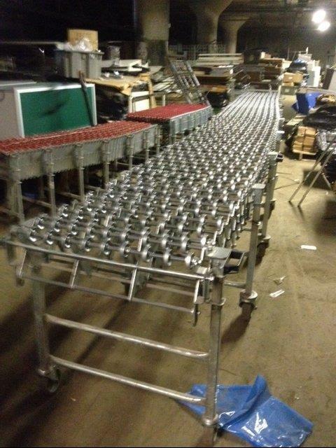 """Metal Skatewheel Conveyor Rollers 24"""" x 32"""