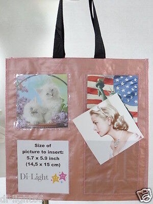 PHOTO BRAG BAG photo tote - add your own (8) pictures - customize -original gift Photo Brag Bag