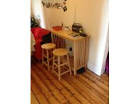 Bar table set with two bar stools