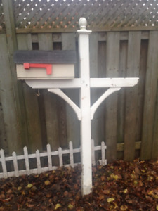 Freestanding Mailbox with Post- FREE!! MERRY CHRISTMAS!!