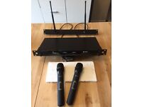 Twin hand held Radio Michrophone System -Excellent condition