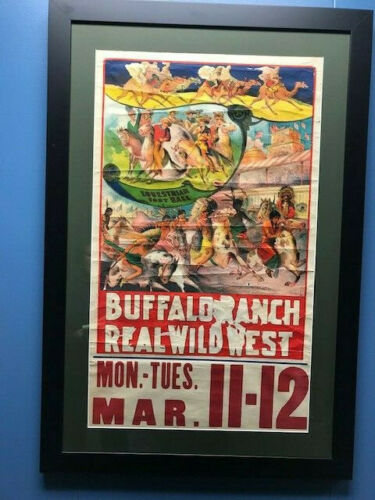 Vintage Real Wild West Poster, Traveling Wild West Shows, Western Americana