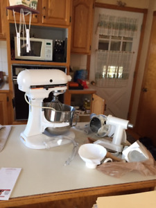 Kitchenaid stand mixer with attachments