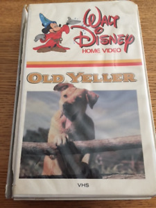 Walt Disney's OLD YELLER on VHS (used, damaged clamshell)