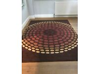 Large patterned 'Next' pure wool rug