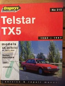 "Telstar TX5 !983-1987 Gregory""s Workshop Manual. Ocean Grove Outer Geelong Preview"