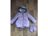 Girl Pink Marks & Spencer (M&S) Jacket / Coat size 6-7 years