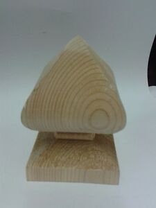 Unreated Wooden Bishop Finial for 3