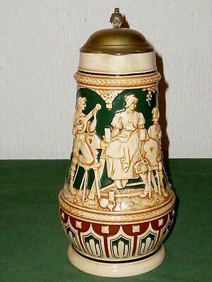 Old large westerwald Mug 2 Litre Beer mug Wine Jug Historicism jug Jugs