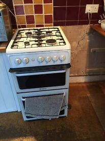 Hotpoint gas oven, grill and 4 ring hob