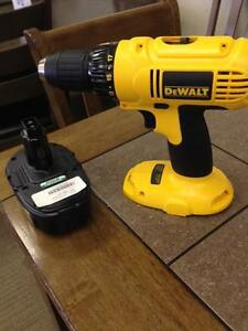 DEWALT DRILL WITH CHARGER AND BAG $75.00 + TAXES