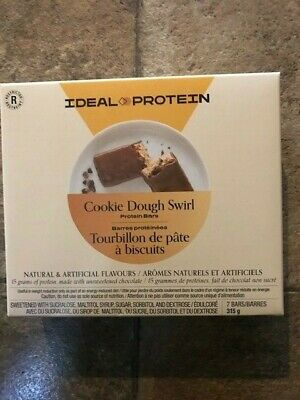 Ideal Protein Cookie Dough Swirl bars 7 bars 15g protein per bar