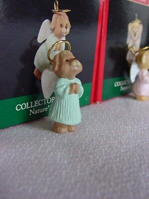 HALLMARK Miniature Puppy Angel NATURE'S ANGELS 1991 Christmas Ornament dog w box