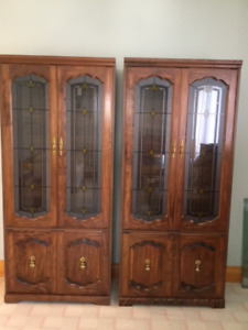2 China Display Cabinets
