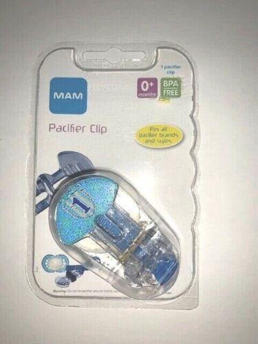 MAM Pacifier Clip, BPA Free - 0+ Months, Blue