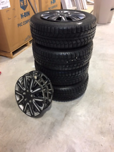 2006 -17 honda civic winter tires set with steel rims and caps