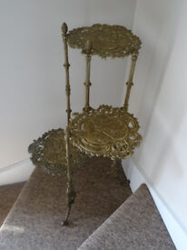 Antique Brass 3 Tier stand £50