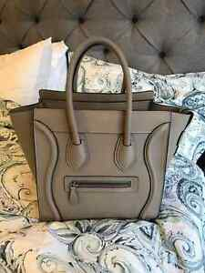 Celine Micro Luggage - Dune pebbled leather