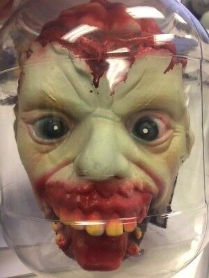 Laboratory Head In A Jar Prop Scary Bloody Halloween Props Decoration - Halloween Bloody Head