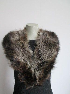 Women's Raccoon Fur Collar EXCELLENT  Coat Raincoat Detachable