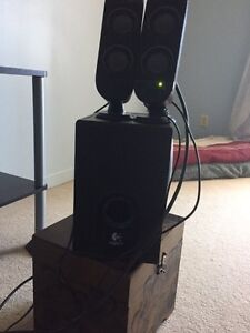 Reduced!! Logitech Subwoofer and Speakers ($20 OBO)