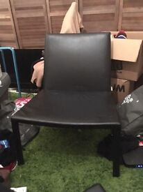 2 X Leather Habitat Chairs
