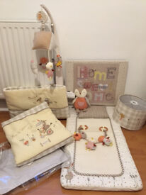 "Lovely nursery room set from Mamas & Papas, ""Murphy and Me"" theme"