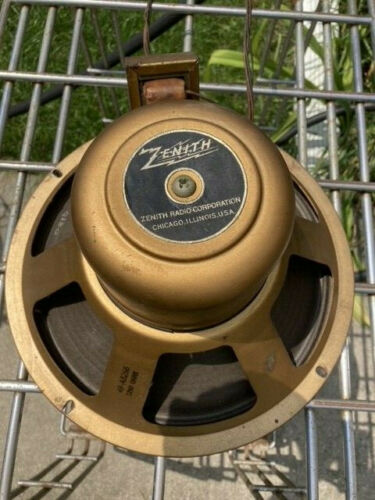 "VINTAGE ZENITH RADIO SPEAKER Field Coil 12"" SPEAKER 49-AB266  1250 OHMS"