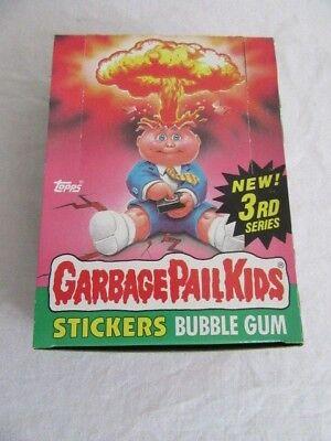 1986 Garbage Pail Kids 3rd Series Box Set 48 Packs Nice Condition