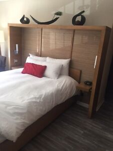 Custom Solid Wood Bed Frame and Mattress