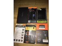 BRAND NEW IPHONE 7 PLUS ACCESORIES - 3 CASES AND 3 TEMPERED GLASS SCREENS