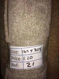 Beige saxony Carpet Remnant (1.60 x 3.05 metres) for £20 - REF: 21