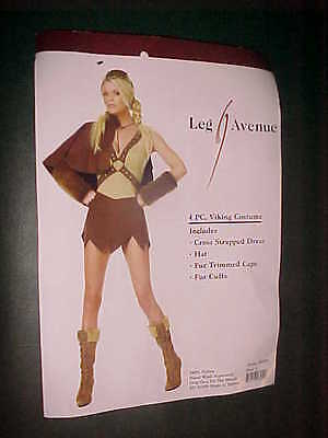 BRAND NEW WOMENS/LADIES 4 PC. VIKING COSTUME SIZE LARGE 100% - Viking Lady Costume