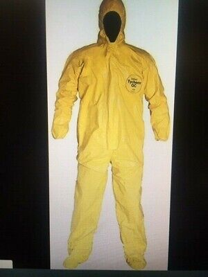 3xl Dupont Qc122s Tychem Qc Coverall With Hood Boots Attached