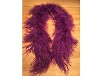 Fine quality purple scarf