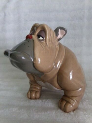 Disney Vintage 1988 Oliver & Company Bull Dog Francis Ceramic Figurine